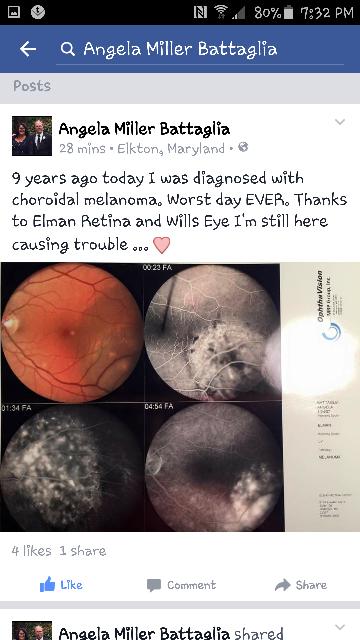 Baltimore Eye Surgery patient